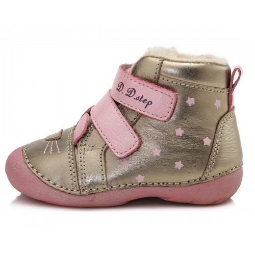 Auksinės spalvos batai su pašiltinimu 20-24 d. 015190