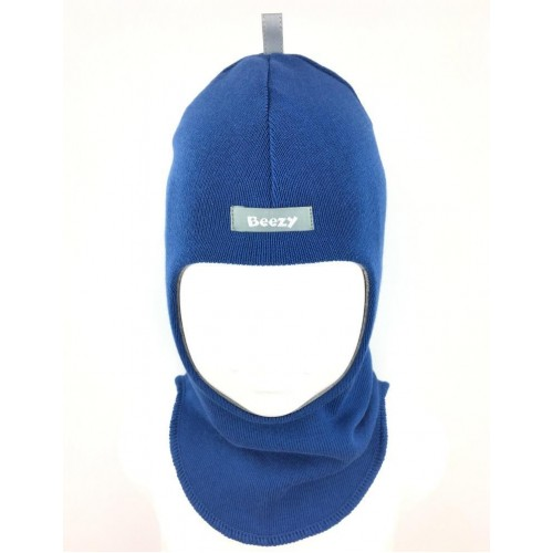 "Demisezoninė mėlyna kepurė-šalmas berniukui ""Beezy"", 1705-12"