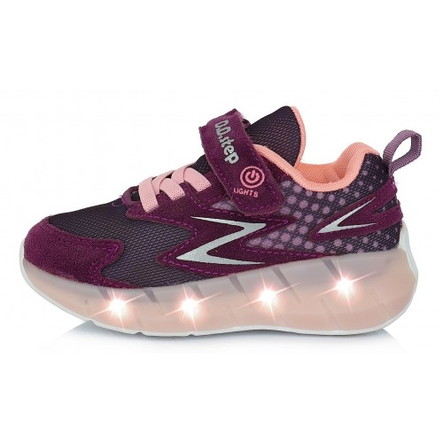 Violetiniai sportiniai LED batai 24-29 d. F61275EM