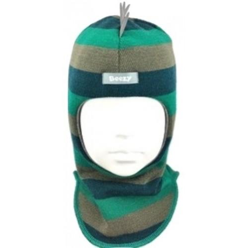 Spalvinga, dryžuota kepurė-šalmas su vilna berniukui