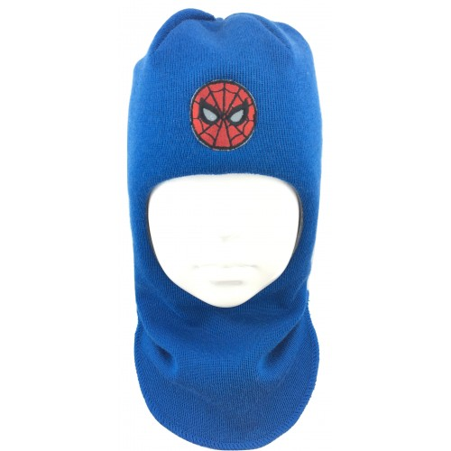 Mėlyna kepurė-šalmas su vilna berniukui