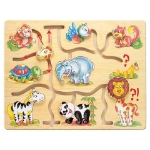 """Medinis labirintas """"Afrikos gyvūnai"""", 10 mėn+"""