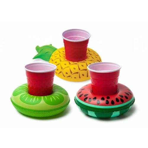 Pripučiami gėrimų laikikliai, Tropiniai vaisiai, 3 vnt.