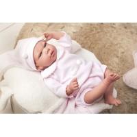Reborn kūdikėlis su rožiniais rūbeliais, 40 cm
