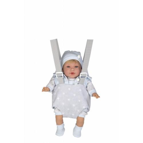 Kūdikio nešyklė su petnešomis, pilka