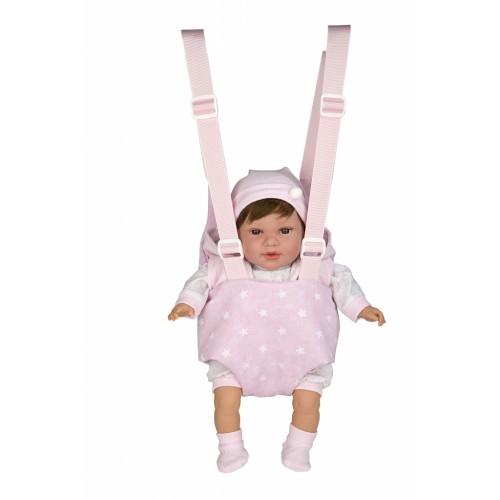 Kūdikio nešyklė su petnešomis, rožinė