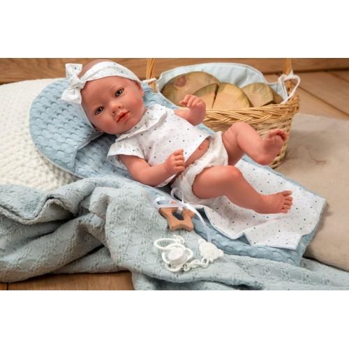 Arias Reborn kūdikėlis mergaitė, žydra, 38 cm