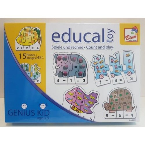 """Edukacinė lavinamoji dėlionė """"Žaisk ir skaičiuok"""""""