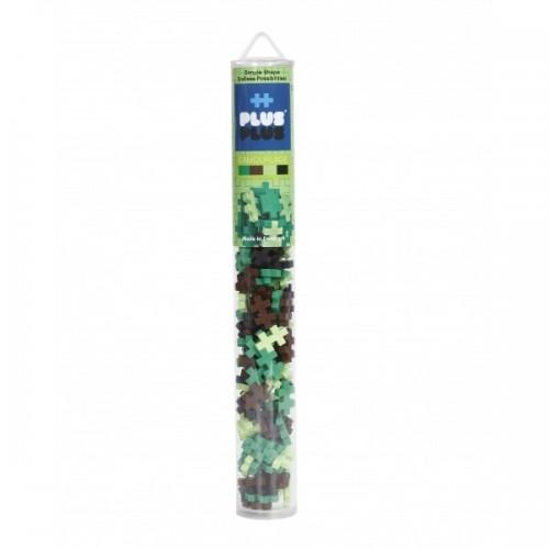 Plus Plus konstruktorius, Mini kamufliažinių spalvų plastikinis vamzdelis, 100 vnt