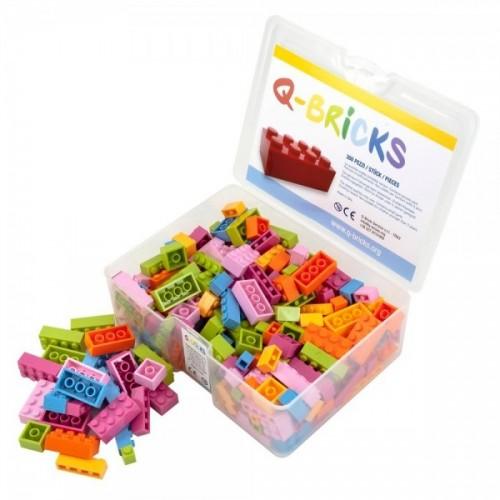 Q-Bricks rinkinys - Miksas, gėlių spalvos, 300 vnt