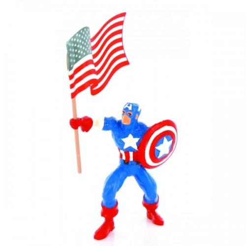 Comansi figūrėlė - Kapitonas Amerika su vėliava