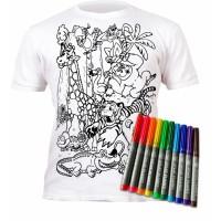 Splat Planet marškinėliai su flomasteriais, Zoologijos sodas