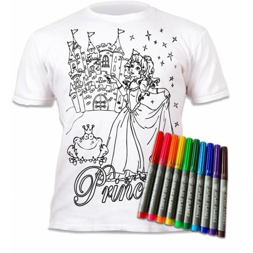Splat Planet marškinėliai su flomasteriais, Princesės
