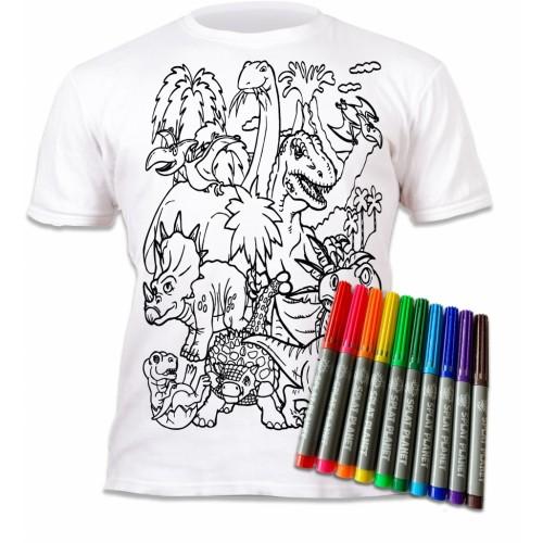 Splat Planet marškinėliai su flomasteriais, Dinozaurai