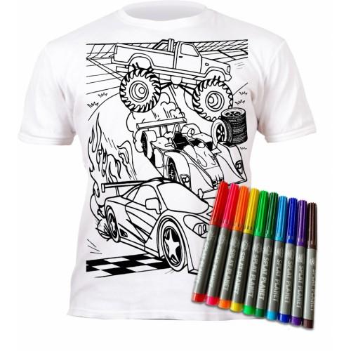 Splat Planet marškinėliai su flomasteriais, Mašinos