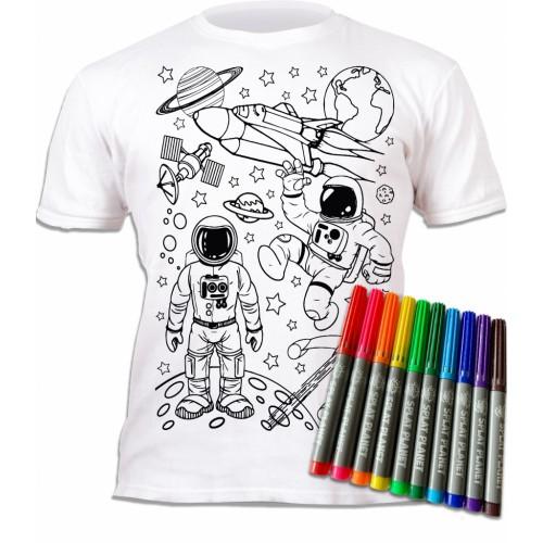 Splat Planet marškinėliai su flomasteriais, Kosmosas