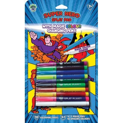 Splat Planet magiška spalvinimo knygelė SUPER HEROJAI