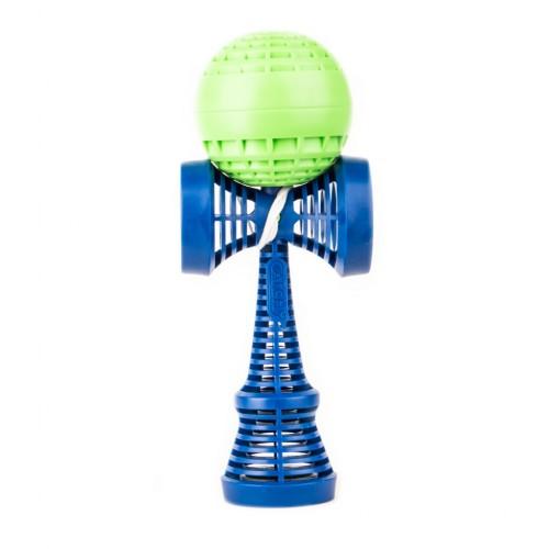 Kendama žaislas, plastikinis/žalias